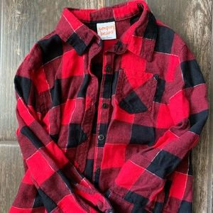 Girls flannel plaid shirt